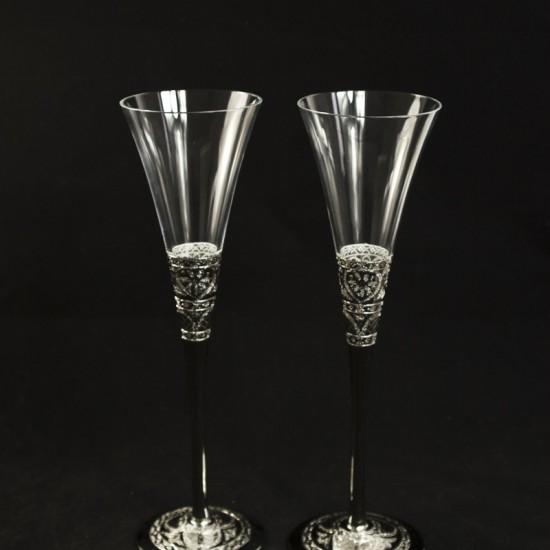Сватбени чаши модел 26 сребро