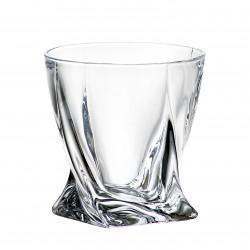 6 кристални чаши 340мл за уиски Бохемия Куадро