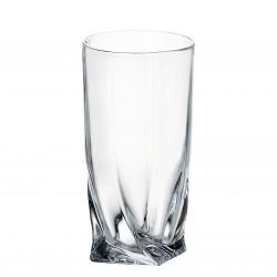 6 кристални чаши 350мл за вода и безалкохолно Бохемия Куадро