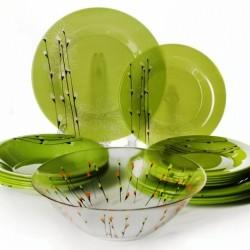 Сервиз за хранене зелен 19 части Rhapsody Green Luminarc