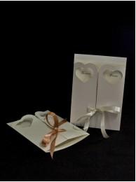 Сватбена покана ръчна изработка модел 51
